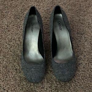 Dexter Black and White Tweed Pumps/Heel - Size 7.5